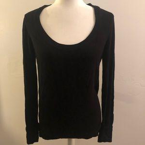 Black Scoop Neck Sweater